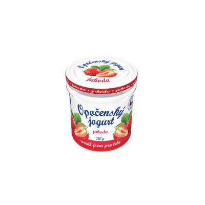 Opočenský jogurt jahoda 150 g