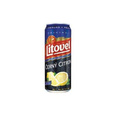 Litovel nealko černý citron plech 0,5 l