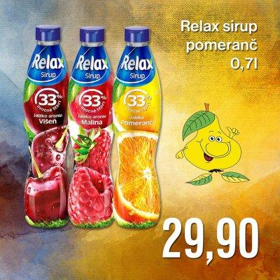 Relax sirup pomeranč 0,7 l