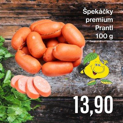 Špekáčky premium Prantl 100 g