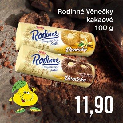 Rodinné Věnečky kakaové 100 g