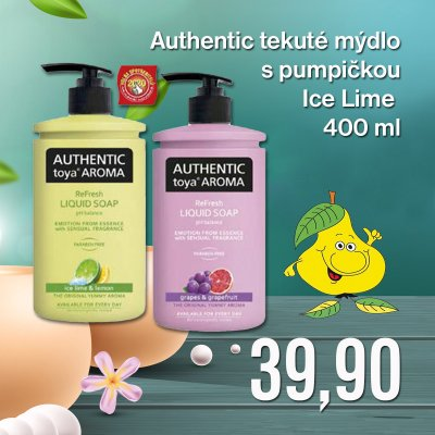 Authentic tekuté mýdlo s pumpičkou Ice Lime 400 ml