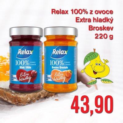 Relax 100% z ovoce Extra hladký Broskev 220 g