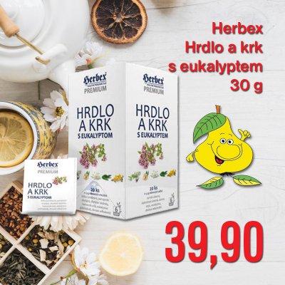 Herbex Hrdlo a krk s eukalyptem 30 g