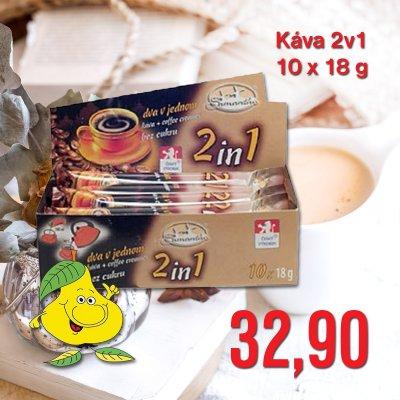 Káva 2v1 10 x 18 g