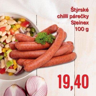 Štýrské chilli párečky Steinex 100 g