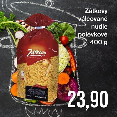 Zátkovy válcované nudle polévkové 400 g