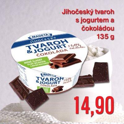 Jihočeský tvaroh s jogurtem a 60% čokoládou 135 g