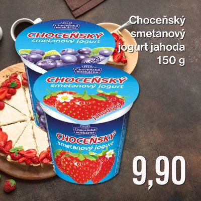 Choceňský smetanový jogurt jahoda 150 g