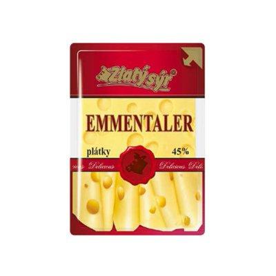 Zlatý sýr Emmentaler plátky 100 g