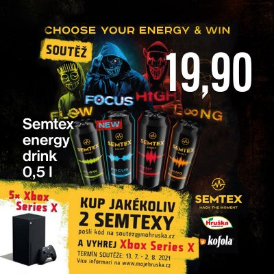 Semtex energy drink 0,5 l