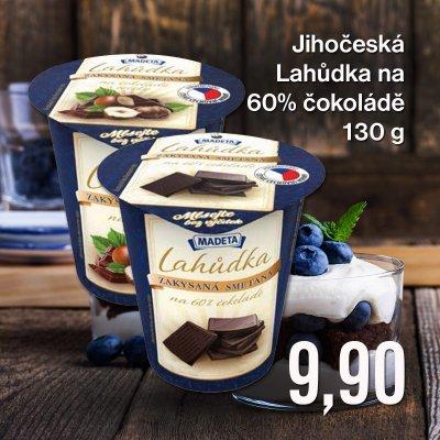 Jihočeská Lahůdka na 60% čokoládě 130 g