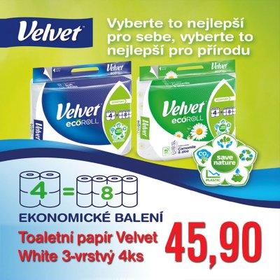 Toaletní papír Velvet  White 3-vrstvý 4 ks