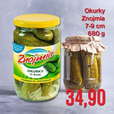 Okurky Znojmia 7-9cm 680 g