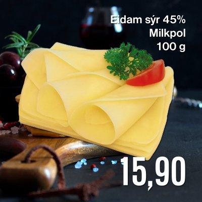 Eidam sýr 45% Milkpol 100 g