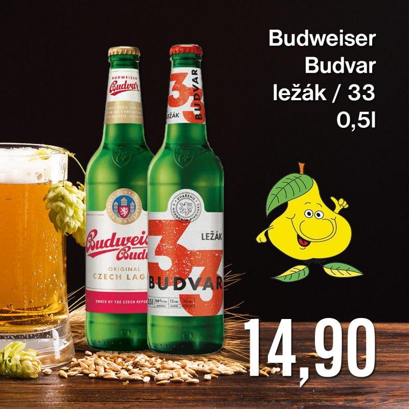 Budweiser Budvar ležák / 33 0,5 l