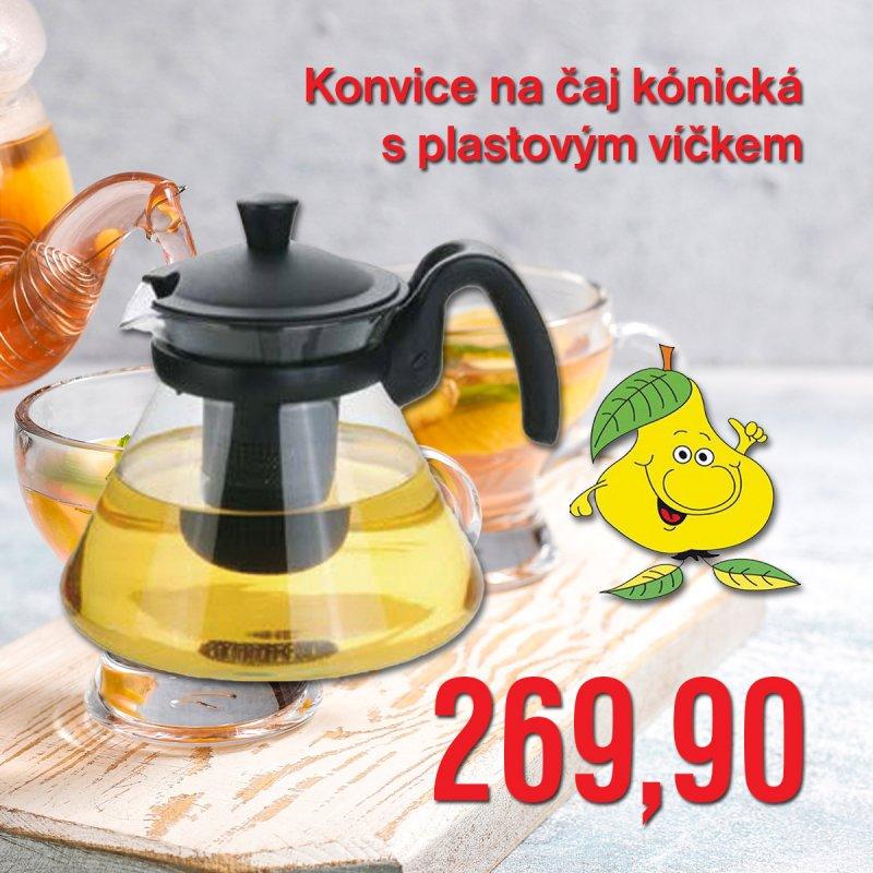Konvice na čaj kónická s plastovým víčkem