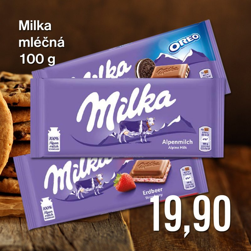Milka mléčná 100 g