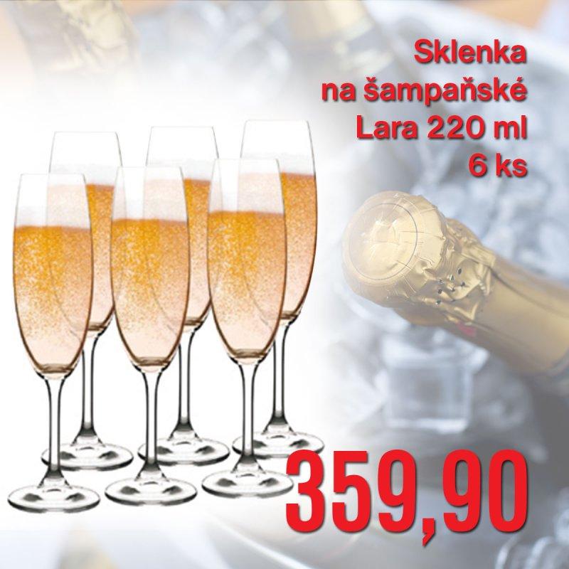 Sklenka na šampaňské Lara