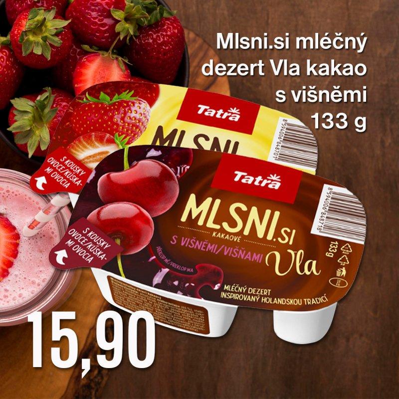Mlsni.si mléčný dezert Vla kakao s višněmi 133 g