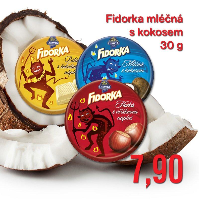 Fidorka mléčná s kokosem 30 g